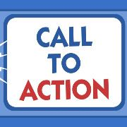 call to action blue and white